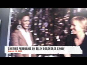 CHERINE ANDERSON IN THE GREENROOM ELLEN DEGENERES SHOW