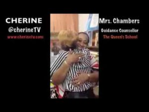 Cherine chats with Mrs. Chambers  (Her high school Guidance Counsellor)
